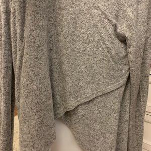 Grey and White Mesh long sleeve shirt